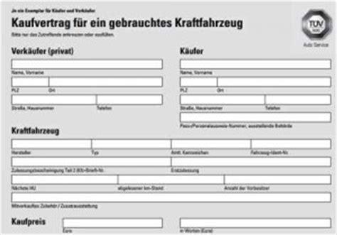 Kaufvertrag Auto Zum Ausf Llen by Vorlage Kaufvertrag F 252 R Ein Gebrauchtes Kfz Kraftfahrzeug
