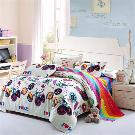 cat bedding fashion bedding sets cartoon kitty cat dog printed bedding