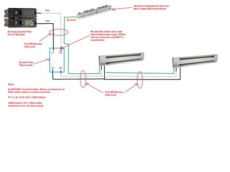 honeywell electric baseboard thermostat wiring diagram