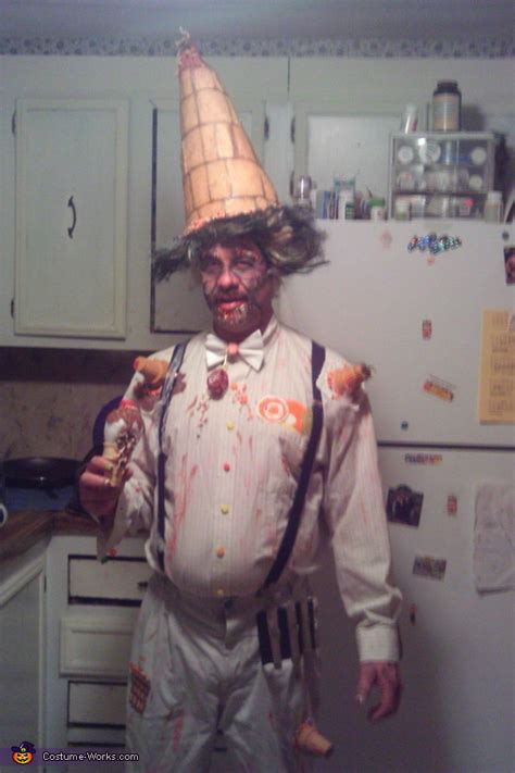 face  ice cream man costume