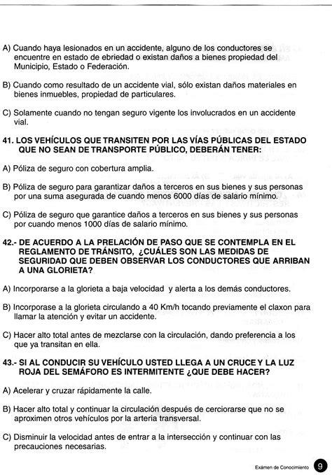 guia examen licencia de manejo guanajuato gu 237 a completa para presentar el examen vial en jalisco