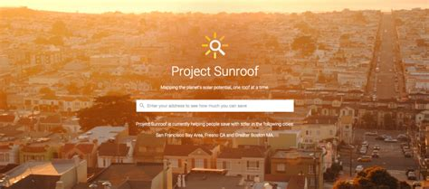 google announces project sunroof to help power the world google wants to help cover your house with solar panels