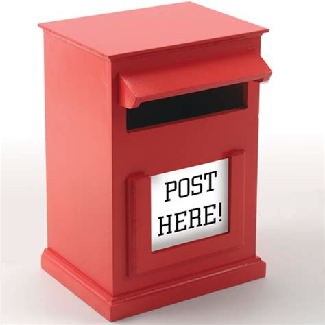 How To Make Post Box With Chart Paper - buy post box h31 x w20cm tts