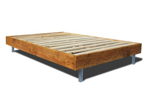 bed with no frame platform bed frame with metal legs modern and rustic bed
