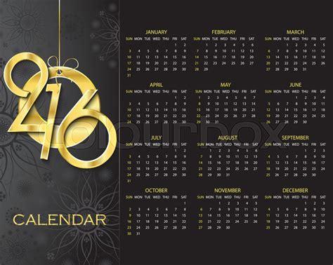 design calendar background creative calendar 2016 vector design template on dark