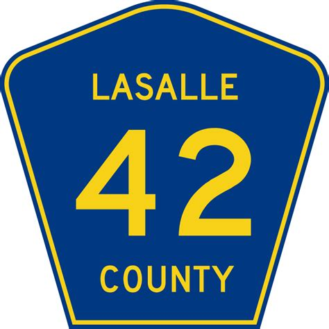 Lasalle County Search File Lasalle County Route 42 Il Svg Wikimedia Commons