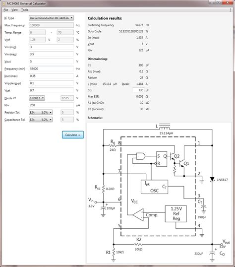 mc34063 inductor current mc34063 in voltage boost configuration voltage drop page 1
