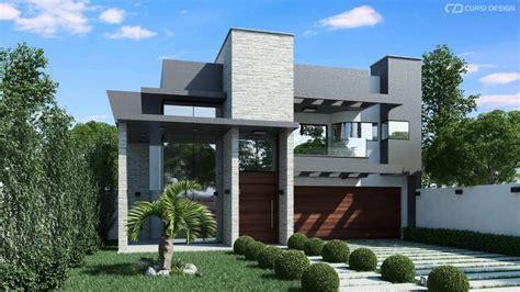 design casa moderna fachada casa moderna diurna cursi design