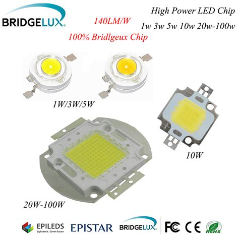 Lu Tembak Led 10 Watt high power led chip 100 bridgelux 45mil warm