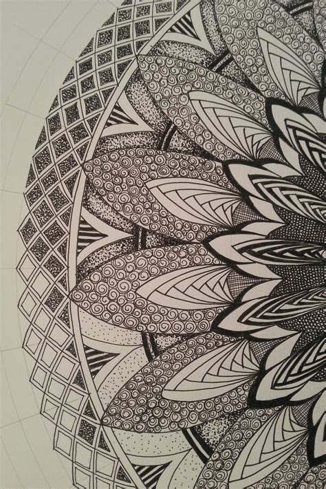 pattern drawing book judy s zentangle creations half mandala feast looks very
