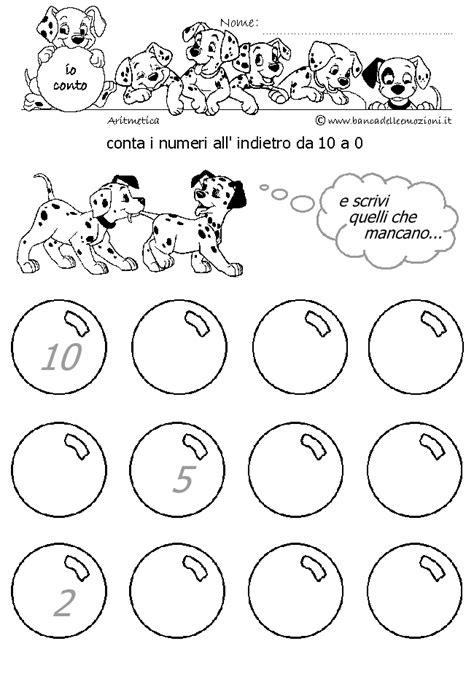 banca delle emozioni matematica bambini aritmetica conta i numeri all indietro da 10 a