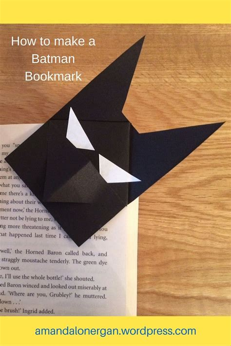 How To Make A Paper Bookmark - how to make a batman bookmark bookmarks and