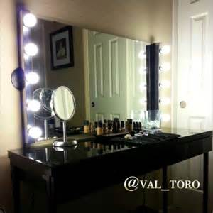 Makeup Vanity Mirror With Lights Diy Pin By Bethany Fritz On For The Home