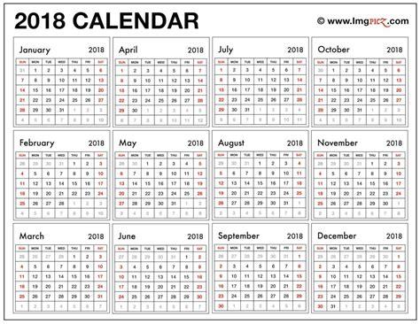 printable calendar 2018 large calendar 2018 printable free blank template in ms excel