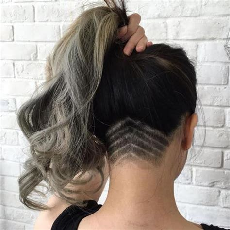 undercut long hair undercut hair designs for female hairstyles 2018 2019