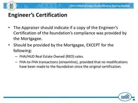 Compliance Engineer by Fha Appraisal Overview