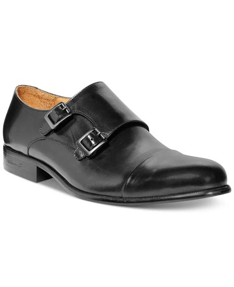kenneth cole shoes kenneth cole tribal chief monk shoes in black for