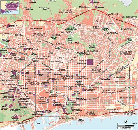 printable maps barcelona large barcelona maps for free download and print high