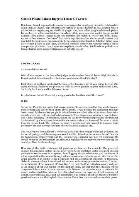format penulisan artikel yang benar contoh text naskah pidato bahasa indonesia yang baik dan
