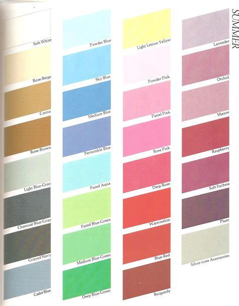 color me beautiful summer summer color palette on summer color palettes