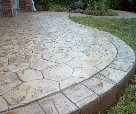 Patio Floor Designs Deck And Sted Concrete Patio Easy Home Decorating Ideas