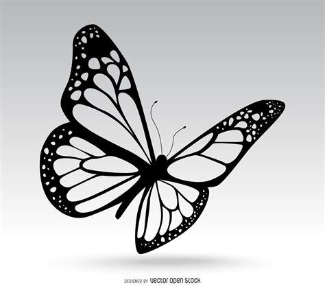imagenes de mariposas realistas dibujo de mariposa aislado descargar vector