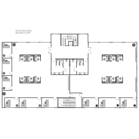 plan the approximate layout of the building office building layout