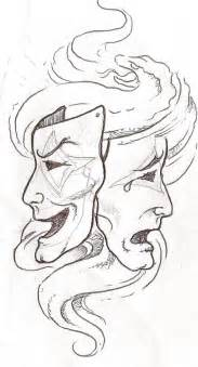 Laugh Now Cry Later Tattoos Outline by Stencils To Print Smile Now Cry Later Stencils How To Draw Caricatures How To