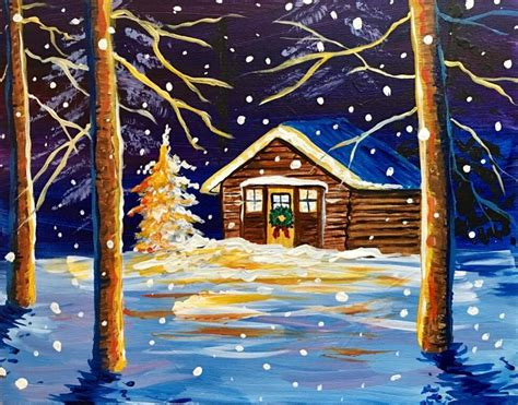paint nite yakima 12 13 cabin in the woods russillo s pizza gelato yakima