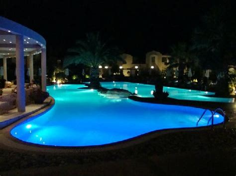 pool at night lagoon restaurant picture of porto sani sani tripadvisor