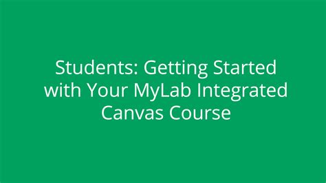 getting started in canvas for students rutgers integrate mylab strategy with canvas for easy access