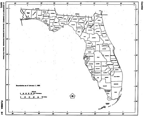 florida city map outline florida free map
