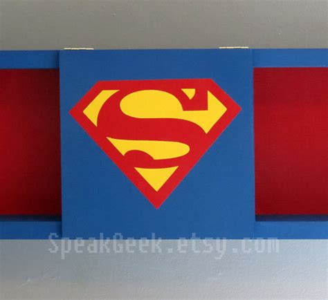 superman home decor superman supergirl shadow box shelf