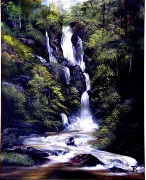 bob ross painting a waterfall gallery 2 jess rogerson bob ross painting classes in
