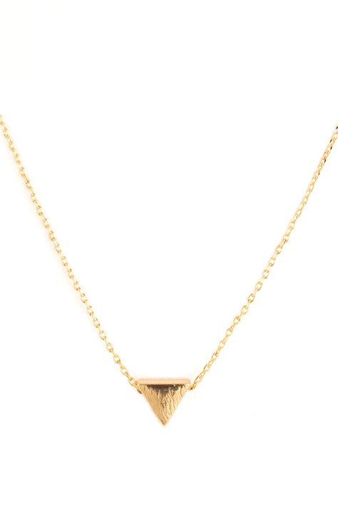 Metal Triangle Necklace metal triangle delicate necklace necklaces