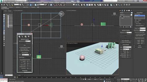 Multi Max 33 R 3ds max massfx part 3 multi object editor static dynamic friction mesh parameters