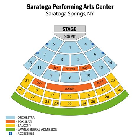 spac seating chart with numbers furthur july 19 tickets saratoga springs saratoga