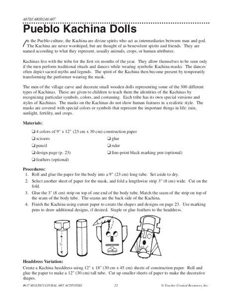 kachina doll lesson plan multicultural lesson plans