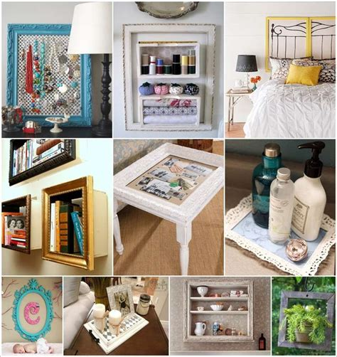 recycling ideas for home decor 50 ideas to recycle old picture frames for home decor