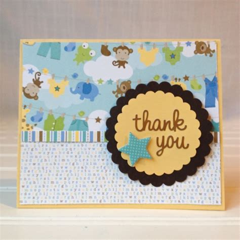 Handmade Baby Shower Thank You Cards - baby shower thank you cards 365 days of crafts