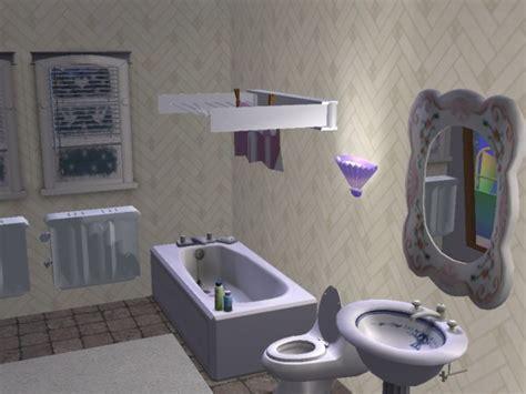 bathroom clothesline mod the sims new mesh bathroom clothesline