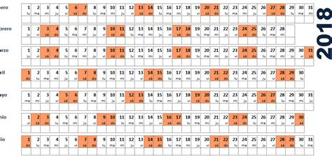 Calendario 2018 Excel Italiano Plantillas Calendario En Excel 2018 Ayuda Excel