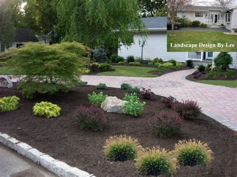 Driveway Garden Ideas Landscape Designs For House With Circular Driveway Landscape Design By Island Ny