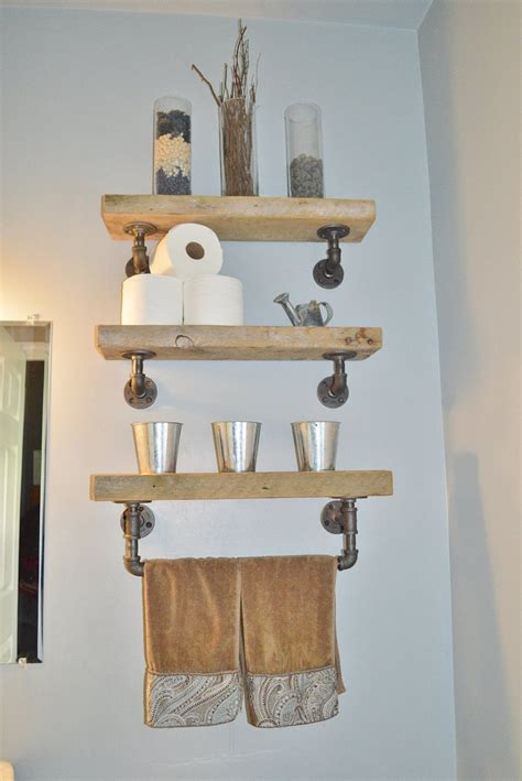 Reclaimed Barn Wood Bathroom Shelves Bathroom Wood Shelves