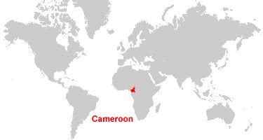 cameroon in world map cameroon map and satellite image