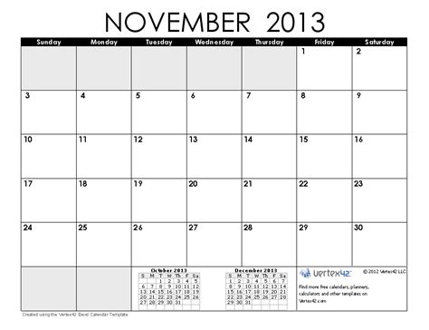 printable calendar october november december 2013 free calendars and calendar templates printable calendars