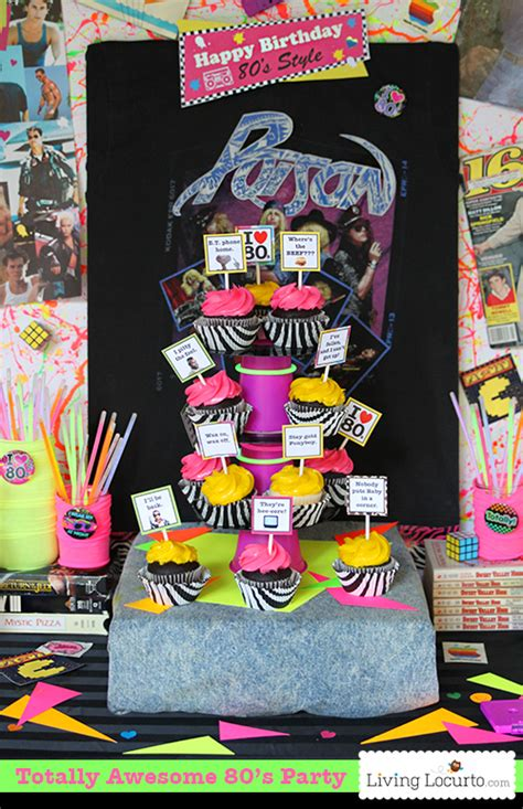 80s party decorations adult 80 s party pinterest awesome 80 s birthday party ideas 1980 s party printables