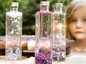 diy magic bottles water and confetti kidsomania