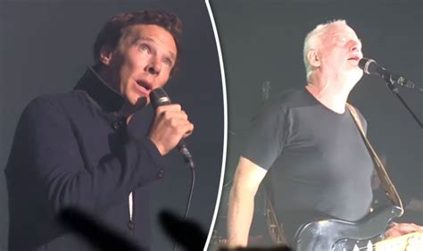 who sings comfortably numb benedict cumberbatch sings pink floyd onstage with david