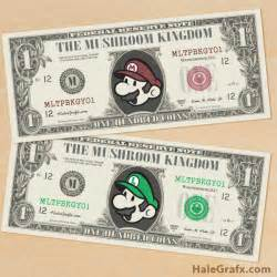 paper money template free free printable mario bros play money